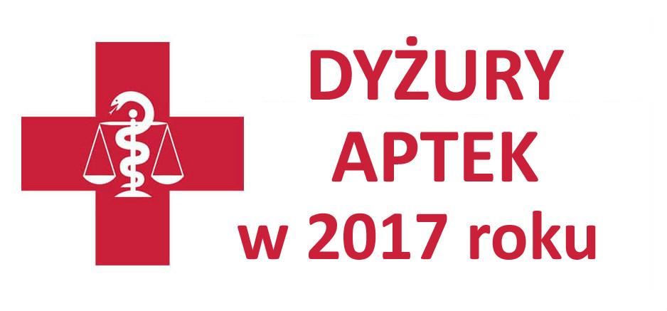 Dyżury aptek w 2017 roku